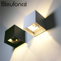 Warm White IP65 LED Outdoor Waterproof Wall Lamp 6W 110V 220V Up Down Lighting Surface Mounted