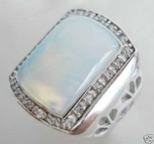 Envío Gratis>> nueva Joyería de Lujo de Los Hombres de Las Mujeres caliente tibet moonstone anillo de tamaño 8 #9 #10 #11 #