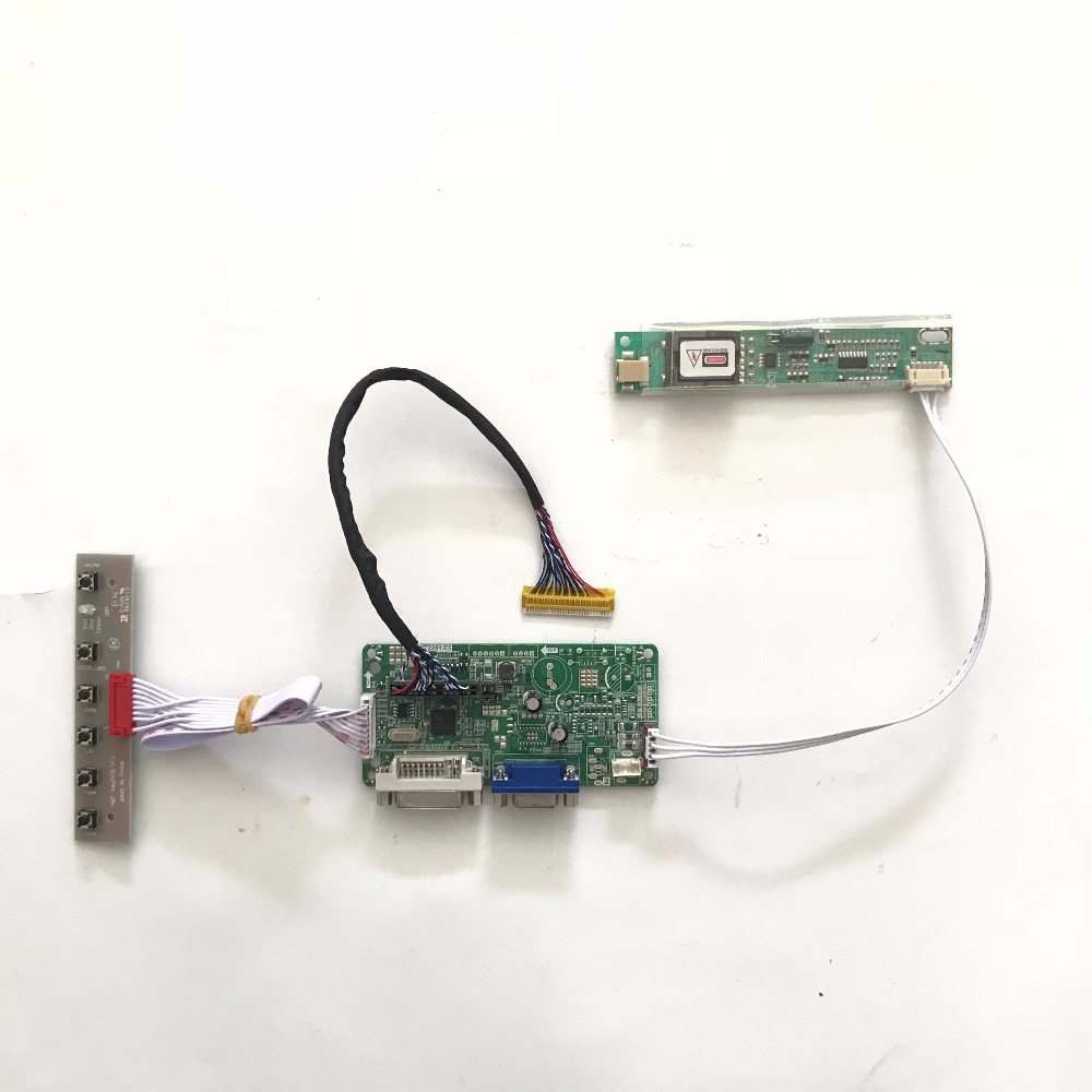 все цены на  RT2281 DVI VGA LCD Controller Board LVDS DVI for B170PW05 1440X900 TFT LCD Screen Panel Plug and play LCD repair  онлайн