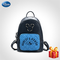 Disney Mickey Women's Backpack Brand Fashion 2019 High Quality PU Leather Schoolbag Bags for Teenager Girl Student Bag HD119