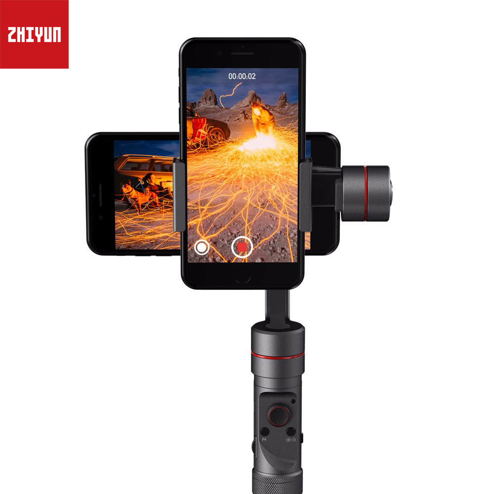 Zhiyun Smooth III Smooth3 3 Axis Handheld Gimbal Camera Mount for Smartphones, Such as iPhone 8 x , 7 6 Plus, 6, 5S, 5C, Samsung 9h tempered glass for iphone x 8 4s 5 5s 5c se 6 6s plus 7 plus screen protector protective guard film case cover clean kits