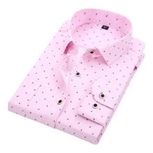 DAVYDAISY Men's Casual Shirt Autumn Full Sleeve Solid Print High Quality Social Dress Shirt Men Brand Clothing Camisa DS-110
