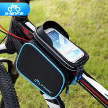 INBIKE Cycling Bike Bag Front Frame Bag Tube Pannier Touch Screen Bags Double Pouch for Mobile Phone Bicycle Riding Accessories