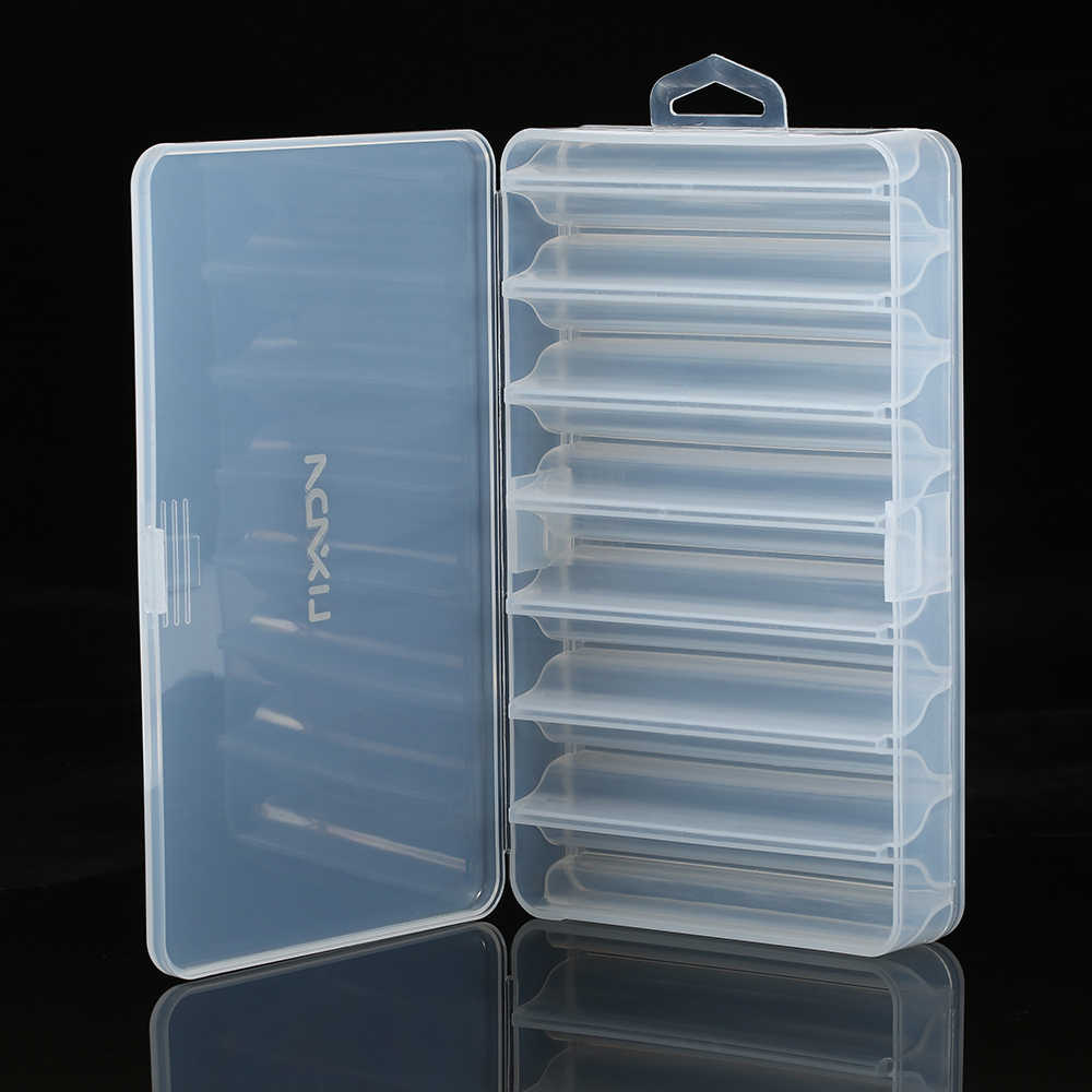 Lixada Fishing Tackle Box Bait Lure Hooks Box Bait Storage Case 5 Compartment Fishing Tool Tackle Sorting Box for Pesca