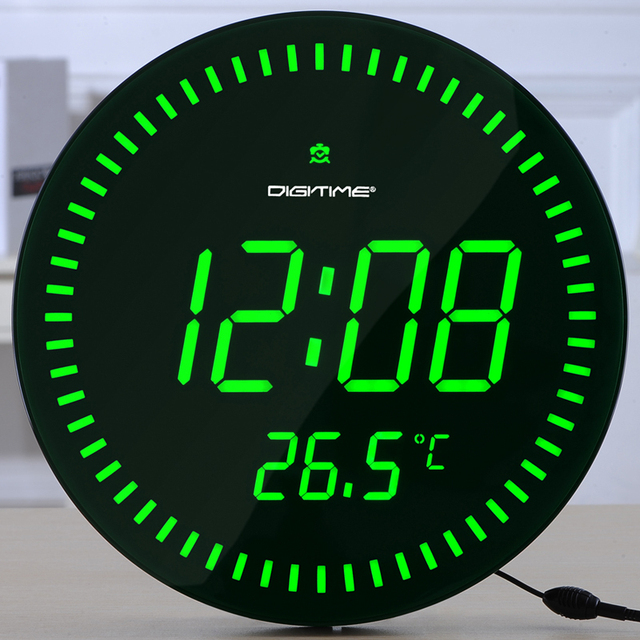 DIGITIME Fernbedienung LED Elektronische Uhr Stilvollen Minimalistischen  Wohnzimmer Schlafzimmer Wanduhr Mute Leuchtende Digitale Temperatur
