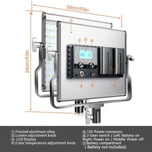 Image 2 - SAMTIAN photography light studio light L4500 2 set video light with stand tripods dimmable bi color 3200K 5500K panel light