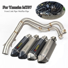 Slip On MT07 FZ07 Exhaust System pipe Header Link Front Connect Pipe Motorcycle Exhaust Muffler Tips Tube For Yamaha Dirt Bike