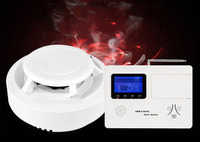 Smoke induction fire 3C certification home fire independent wireless GSM remote telephone detection system alarm