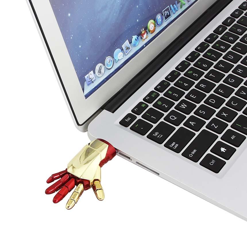 CHYI Cool Right Hand Design Pendrive USB Flash Drive 32GB Metal Avenger Memory USB Stick 4GB 8GB 16GB 64GB Pen Driver Creative