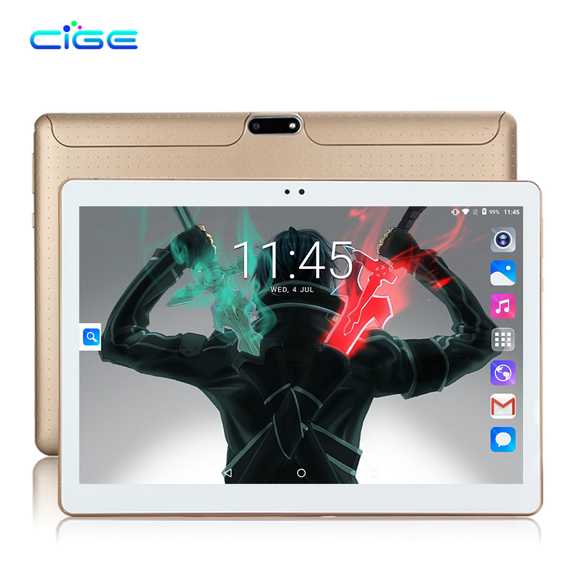 CIGE Free shipping 10.1 Inch Tablet pc Android 7.0 Quad Core 2GB RAM 16GB ROM sim WiFi FM IPS Phone Call 3G GPS Tablets+gifts cige a6510 10 1 inch android 6 0 tablet pc octa core 4gb ram 32gb 64gb rom gps 1280 800 ips 3g tablets 10 phone call dual sim