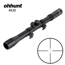 ohhunt 4X20 Hunting Shooting Riflescopes Fine Duplex Reticle Tactical Optical Sight Air Sco
