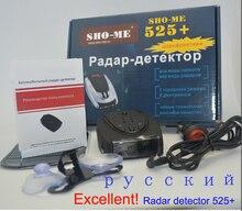 Russian Version STR525+ Car Detector Electronics Anti-Police Radar Detector LED Display Alert Laser Car Speed detectors