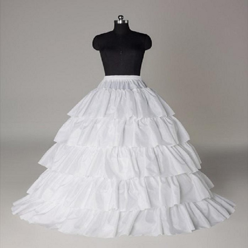 Petticoats Enaguas Para El Vestido De Boda 5 Layers Ball Gown Petticoats White/red/black Big Ruffle Wedding Accessories Petticoat