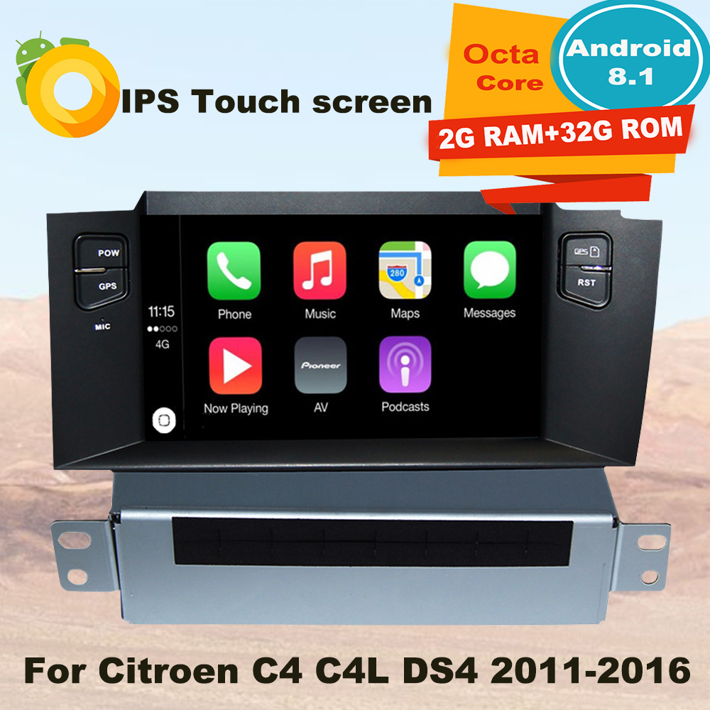 Support Apple Carplay Android8 1 Car DVD Stereo Radio GPS Multimedia Player For Citroen C4 C4L