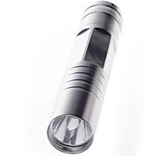 6 Sides Mini Flashlight Torch Silver