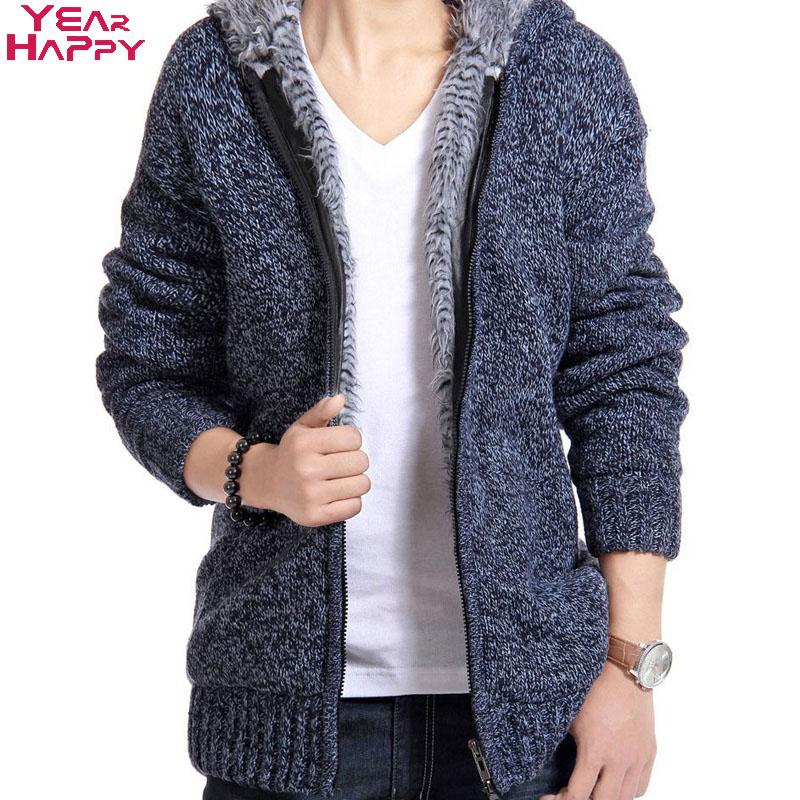 Men Sweater Solid 5 Colors Long Sleeve O-Neck 2017 New Arrival Winter Casual Style Cardigan with Zipper Thick Cotton Men Sweater