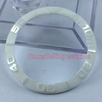 39 8mm White Smooth Ceramic Bezel Insert For Sub Watch Made By Parnis Factory