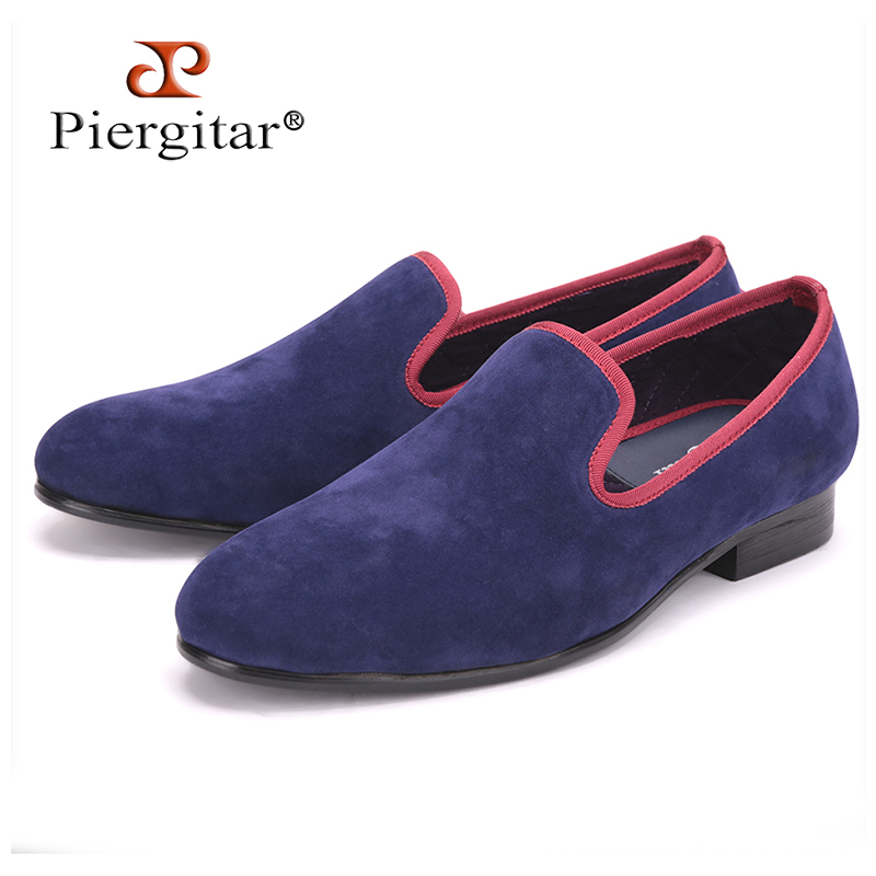 Velvet-Shoes Smoking-Slippers Casual Men Loafers with Different-Trim British-Style Handmade