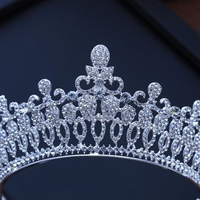 Baroque Luxury Bridal Crystal Tiara Crowns Princess Queen Pageant Prom Rhinestone Veil Tiaras Headband Wedding Hair Accessories