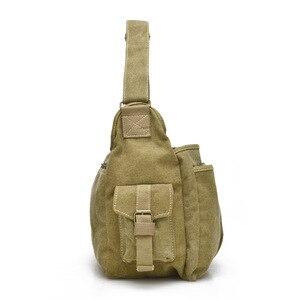 Image 2 - ZHIERNA Men Vintage Shoulder Bag Canvas Casual Messenger Bag Business Mochila Crossbody Bag Retro Man Sacoche business briefcase