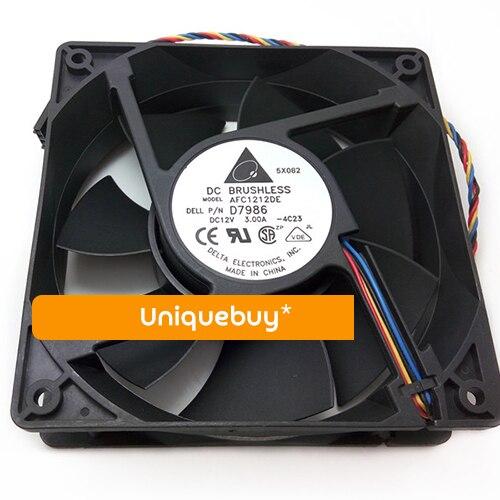 For Delta 3.00A 4line cooling fan 12V temperature control 12cm AFC1212DE usb external temperature control cooling fan for ps4 black