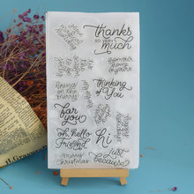 Phrase Transparent Clear Stamps for DIY Scrapbooking Card Making Kids Christmas Bless Words Fun Decoration Supplies 11*20cm(China)
