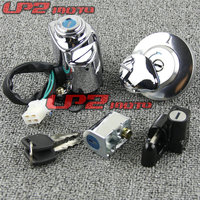 For Honda DDY250 Steed400 Steed 400 VT600 CA250 Lock 4 Lock motorcycle ignition Switch Lock Key Gas Tank Cap Cover