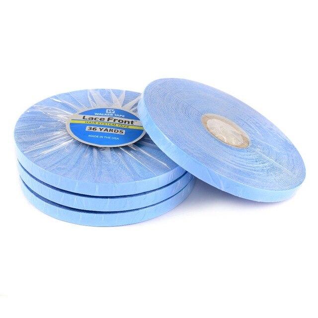 0.8cm * 36 מטרים שיער מערכת קלטת תמיכת תחרה מול כחול כפול צדדי דבק קלטת הארכת שיער/פאה/תחרה פאה