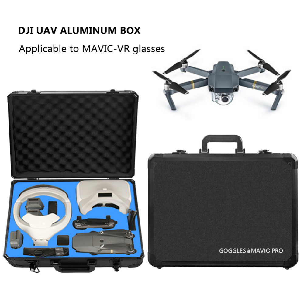 DJI MAVIC Glasses VR Glasses Box Safety Box Suitcase Waterproof Storage Bag Humidity Suitcase for DJI Mavic VR Accessories dji spark glasses vr glasses box safety box suitcase waterproof storage bag humidity suitcase for dji spark vr accessories