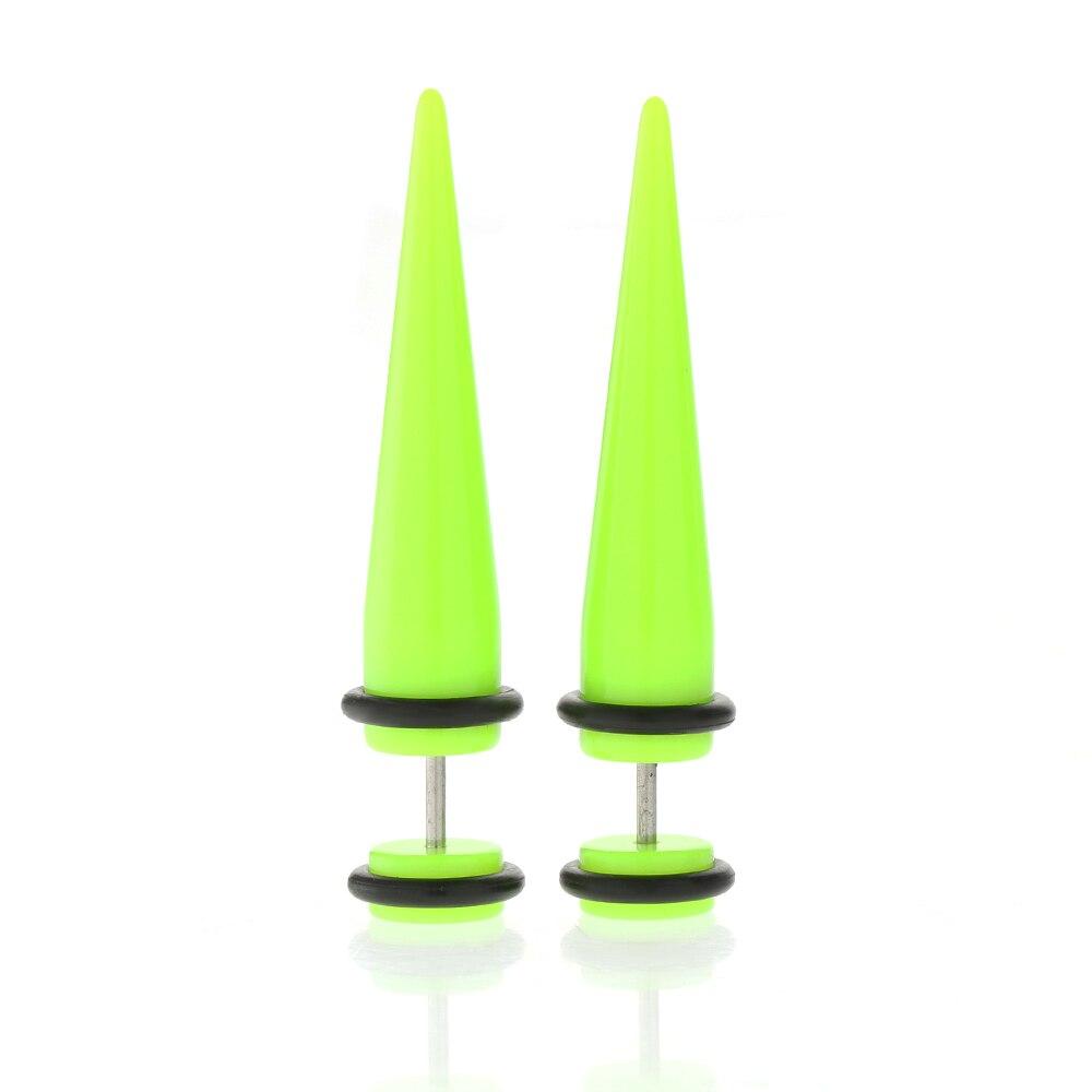 Fake Plug Stretcher Gauges Cheater Taper Rivet Ear Stud Earring