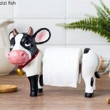 Креативный держатель для бумажных полотенец с милой коровой, держатель для кухонных бумажных полотенец, вертикальный держатель для ванной комнаты, украшение для дома