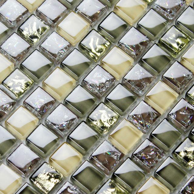 Crystal Glass Tiles Backsplash Ice Crack Mosaic Popular Interior Magnificent Images Of Glass Tile Backsplash Interior