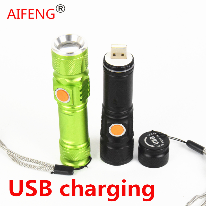 AIFENG Cree Xml T6 Powerful Led Flashlight Usb Torch Charger 18650 Rechargeable Portable Charger Tactical Camping Hunting Light new original scn at flt15 0 z04 oh1 15 inch 5 wire touch screen warranty