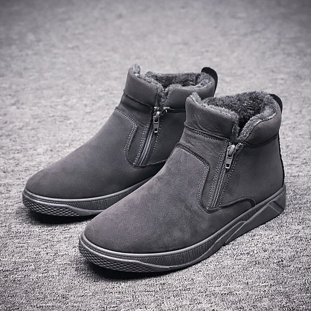 2018 New Winter Shoes Men Fashion Super Warm Shoes Comfortable High Quality Fur Mens Boots Boots