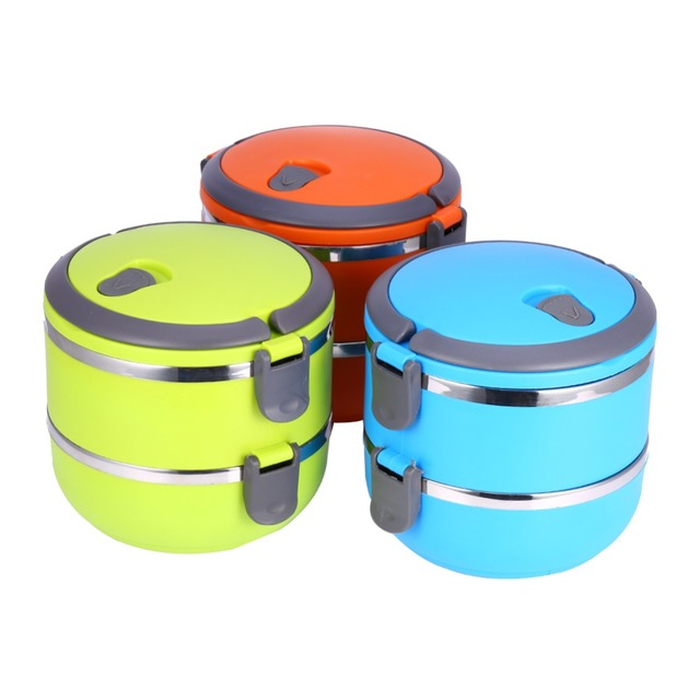 Hot 3 Styles Stainless Steel Thermal Bento For Food Storage