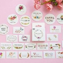 50Pcs/box Cute Small fresh decorative stickers album decorations DIY diary scrapbooking School office stationery
