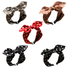 Women Hair Accessories Cotton Plaid Hairband Knot British Style Striped Fabric  Mellifluous Spring Band 2019 New
