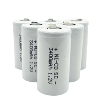 Free Shipping 10 PCS SC NI-CD battery White  3400mAh rechargeable subc battery 1.2 v with tab for makita dewalt for bosch OOLAPR