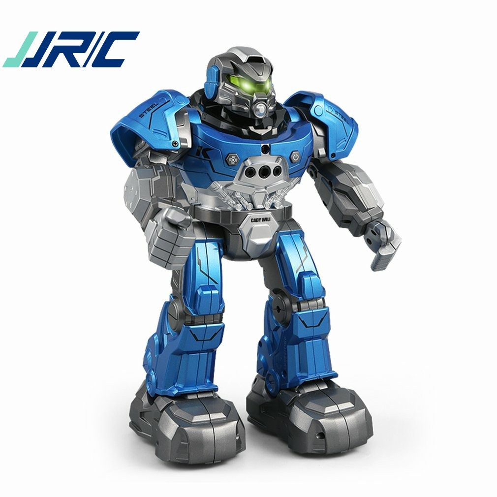 JJR/C R5 CADY WILI Intelligent Robot Remote Control Programmable Auto Follow Gesture Sensor Music Dance RC Robot Toy Kids Gift intelligent sensor aircraft toy
