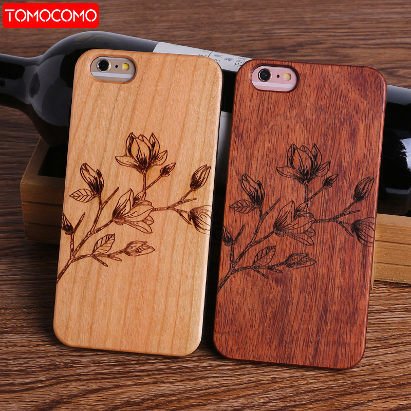 TOMOCOMO Dollar Money Floral Music Smile Happy Real Wood Phone Case For iPhone 5 6 6Plus 7 7Plus 8 8Plus X SAMSUNG S8 S9 Plus
