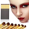 Pelo de caballo 7 x Natural Eye Makeup Brushes Set Maquillaje Pinceles de Sombra de Ojos Profesional