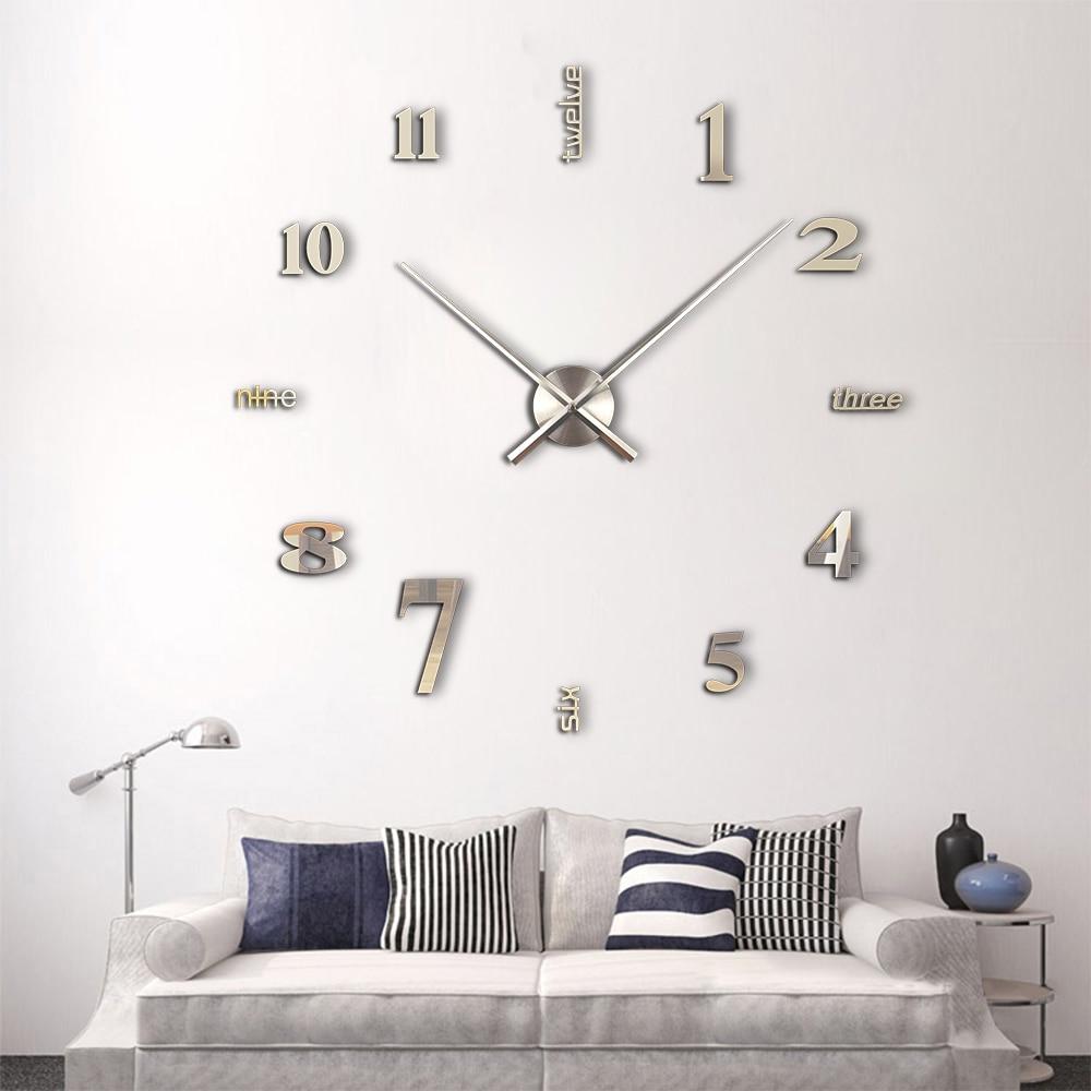 ikea duvar sticker descargas mundiales com promotion diy large wall clock 3d acrylic mirror wall stickers duvar saat watch horloge ikea home