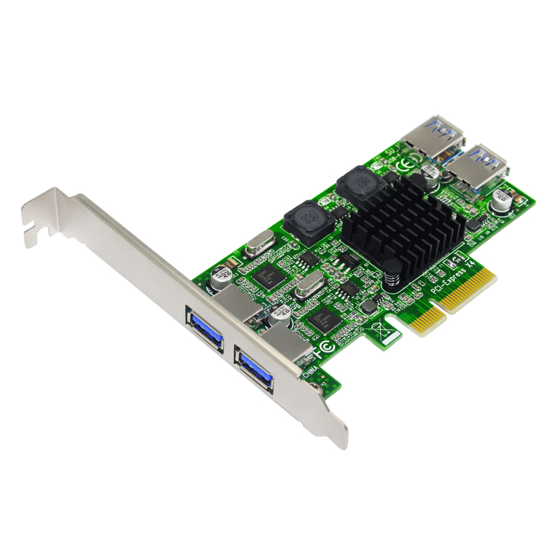 H1111Z NEW Add On Cards PCIE <font><b>USB</b></font> <font><b>3.0</b></font> Card <font><b>PCI</b></font>-E/<font><b>PCI</b></font> <font><b>Express</b></font> <font><b>USB</b></font> <font><b>3.0</b></font> Controller + 5.25 <font><b>USB</b></font> <font><b>3.0</b></font> Front Panel PC Computer Components image