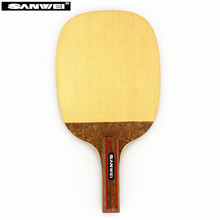 SANWEI Table tennis blade R2 HINOKI Japanese Penhold solid cypress JS ping pong racket bat paddle(China)