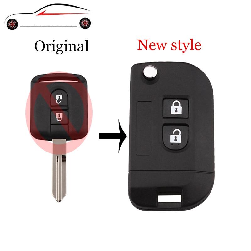 GORBIN 2Buttons New Style Folding Remote Key Shell Car Case For Nissan Qashqai Primera Micra Navara Almera Note Sunny