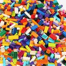 250 1000 sztuk Building Blocks miasto DIY kreatywne cegły luzem Model figurki edukacyjne zabawki dla dzieci kompatybilne wszystkie marki