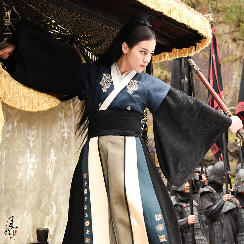 Emperor And Swordlady Couple Costume Qin Dynasty Hanfu Male Female Costume  For TV Play The King's Woman Legend Of Princess Li