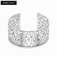 Bangles Arabesque Glam And Soul Thomas Style Vintage Gift For Women Lover Silver Plated Fashion Jewelry