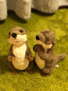 Image 5 - 18cm Standing River Otter Plush Toys Mini Size Real Life Otter Stuffed Animals Toys For Kids Birthday Gifts