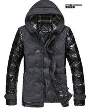 Новый мужская мода хлопка пальто толстые Ветровка С Капюшоном Рог Кнопку